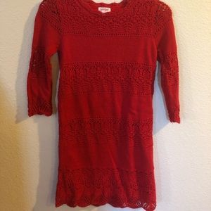 Cat & Jack Red Sweater Dress